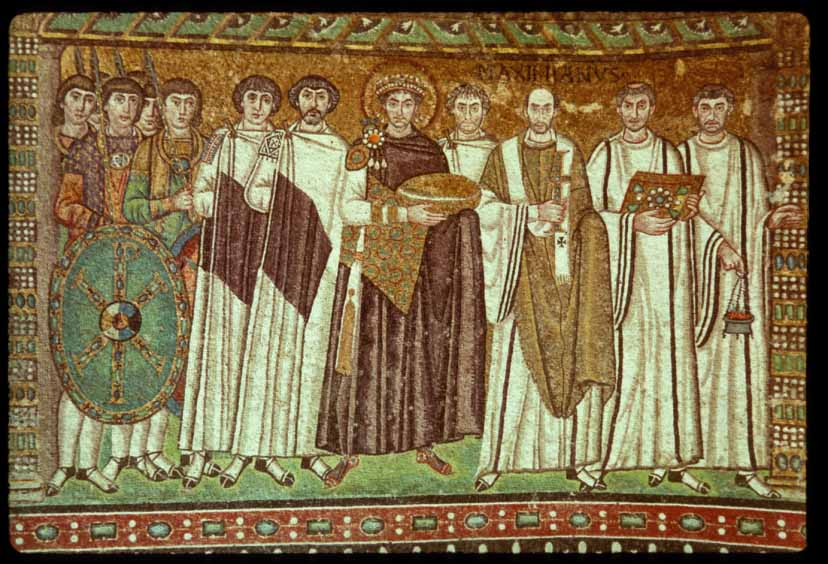 Justinian and Attendants. Church of San Vitale
